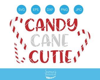Candy Cane Cutie SVG, Candy Cane SVG, Winter SVG, Christmas Cutie Svg, Xmas Svg, Christmas Svg, Cutie Svg, Svg Files for Cricut, Cricut Svg