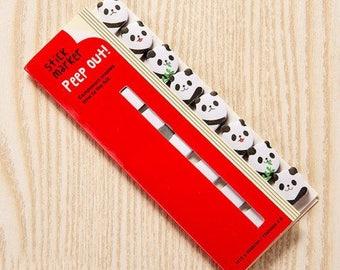 Panda Peep Out Sticky Memo Markers/Sticky Notes