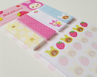 San-X Rilakkuma bears cute kawaii kitsch mini sticky notes post-it stick markers memo pad