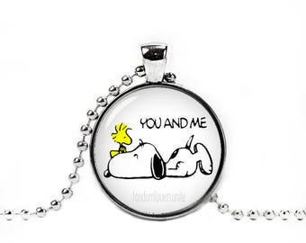 Snoopy and Woodstock Necklace Pendant Snoopy You and Me Fandom Jewelry Cosplay Fangirl Fanboy