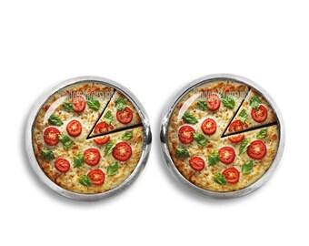 Pizza Stud Earrings Pizza Earrings 12 mm Pizza Jewelry Statement Earrings I love Pizza