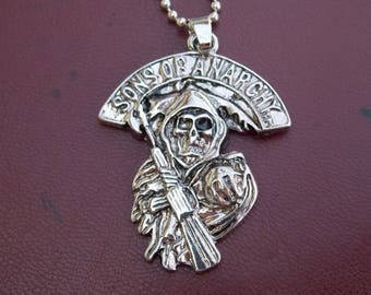 The sons of Anarchy serial movie necklace, gift idea, silver color