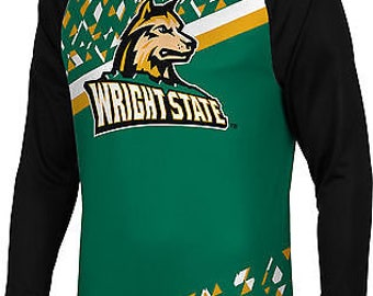 Spectrum Sublimation Men's Wright State University Brilliant Long Sleeve (WSU)