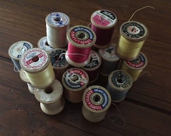 Vintage thread - wooden spools