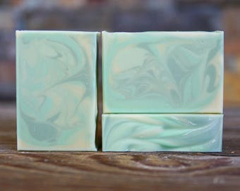 Moroccan Mint Green Tea Soap - Vegan Soap - Mint Soap - Handmade Soap - Homemade Soap - Cocoa Butter Soap