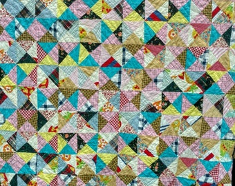 Two Quilts In One!! Lovely & Unique Double-Sided Quilt! Grab this up for your own and try to pick a side that's your favorite!