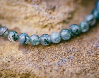 Delicate Moss Agate Bracelet
