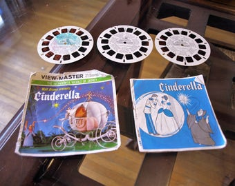 Walt Disney presents Cinderella View Master Reels 1965 with Sleeve and Booklet