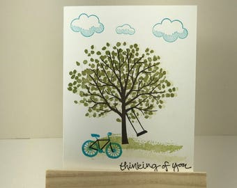 Sheltering tree, green tree, thinking of you, happy birthday, happy anniversary, Just for you