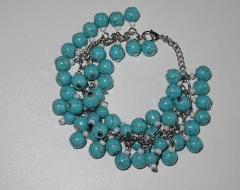 Unique Turquoise Blossom bracelet