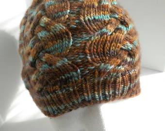 Cabled Malabrigo Wool Beanie