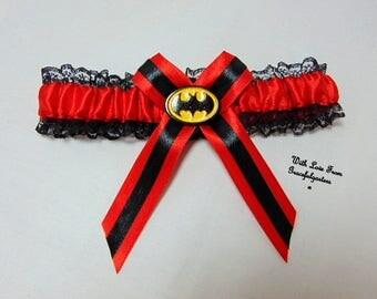 Batman lace Bridal Wedding Garter. all colours see pics