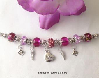 European Charm Bracelet Mother's Day Theme