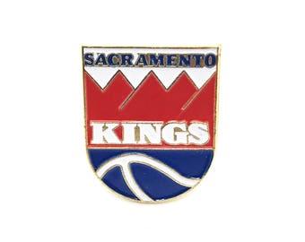 Vintage Sacramento Kings Basketball Enamel Pin