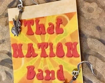 That NATION Band Violin Earrings