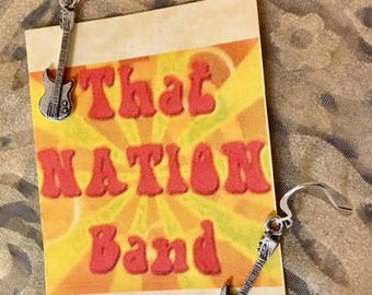 That NATION Band Bass Guitar Earrings