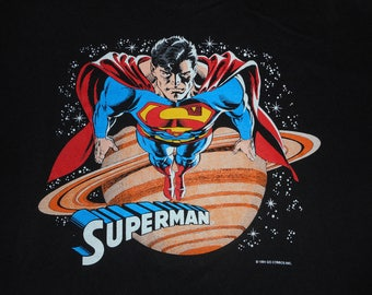 1991 Superman DC Comics T Shirt Size Large