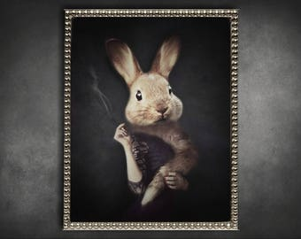 Bunny print etsy negle Image collections