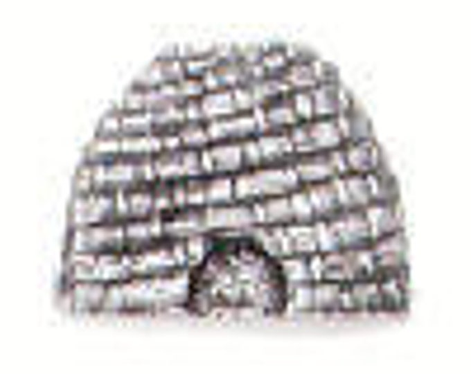 BEE SKEP pewter Danforth Button
