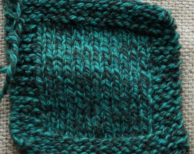 Jade Tweed 3 ply worsted weight kettle dyed yarn from our farm
