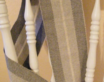 Vintage Gray Wool Scarf - Italian Made - Woolworth Co
