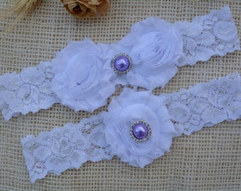 White Wedding Garter, White Garter Set, Bridal Clothing, Garter For Wedding, Gift For Brides, Lace Garter Set, Garter Set, White Keep Garter