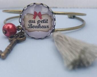 "Bronze bracelet - ""haphazard"" Cabochon"
