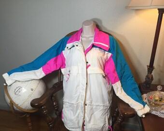 90s Colombia Windbreaker ski jacket 90s clothing vintage clothing 90s Colombia windbreaker retro sweater vintage clothing