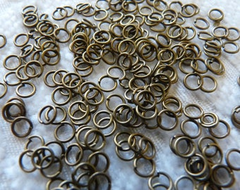 Bronze Jump Rings, 5mm Open Jump Rings, 5mm Jump Rings, Clasp Connector, Earring Connector, Necklace Connector, Bronze Tone Jewelry Findings