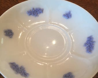 Adderley Blue Chelsea Decorative and Embossed Raised Thistle Sprig & Grape Teacup Saucer