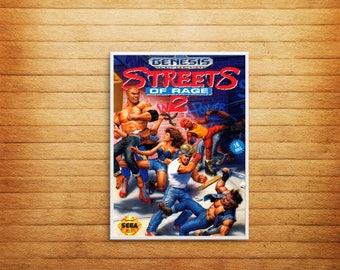 Poster Print Art, Streets of Rage 2, Sega Genesis, Retro Gaming, Geek Art, Vintage, Console, Home WallArt A4 A3 A6 A5  - 1002