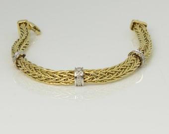 Woven & Braided 14K Gold Bracelet
