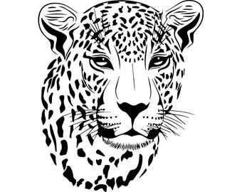 Cheetah #6 Leopard Jaguar Wild Cat Spots Wildlife Wild Animal Zoo Mascot Logo .SVG .EPS .PNG Digital Clipart Vector Cricut Cut Cutting File