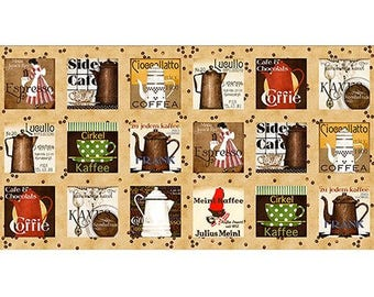 Daily Grind Coffee Panels by J. Wecker Frisch Quilting Treasures 1649-21672-A