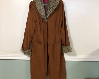 Brown floor length coat