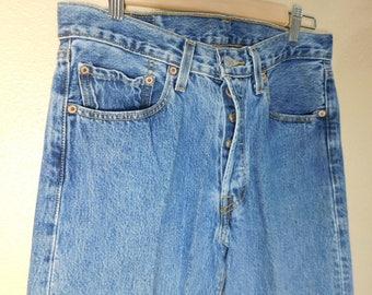 Vintage 90s Levis 501 Blue Jeans 30x32