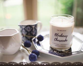 Blueberry Cheesecake Soy Candle Handmade Candle -- Candles with Purpose