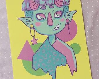 Demon Boy Print