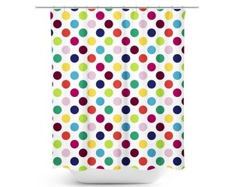 In a Twist Polka Dots Shower Curtain