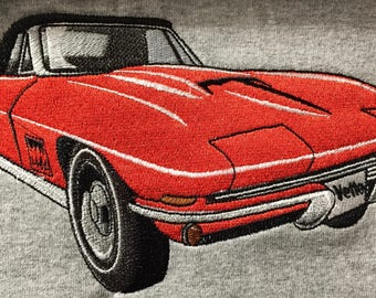 "Embroidered ""Classic ""1962-63 Corvette"" Shirt"
