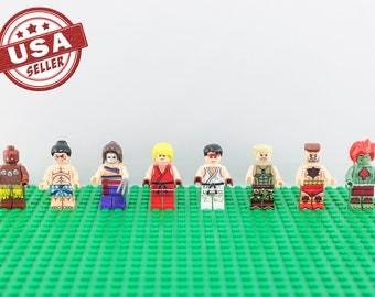 Street Fighter 8 pc minifigure set (Lego Compatible) Ryu Ken Guile Zangief Vega Honda Blanka Dhalsim Capcom Christmas Gift Stocking Stuffer
