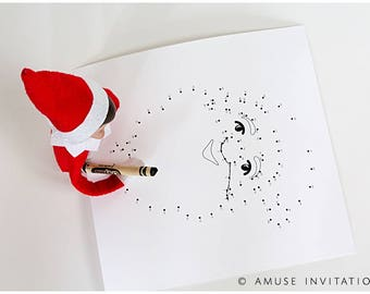 Christmas Connect the Dots, Santa Connect the Dots, Christmas Printables, Christmas Game, Christmas Printable Game, Games for Teachers