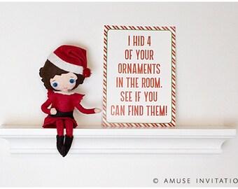 Elf Hides Ornaments, Naughty Elf Idea, Christmas Elf Accessories, Santa's Elf Prop, Elf Printable, Christmas Elf Ideas, Easy Elf Ideas