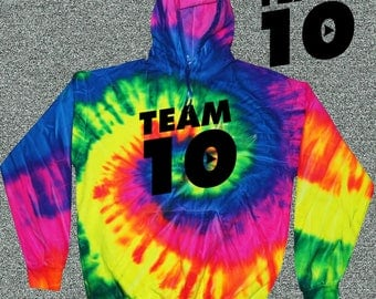 Adult Hoodie Official Team 10 Official we also have size for kids Unisex Tie-Dye Ask a question Team 10 Jake Paul JP t-shirt best price fast