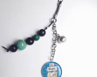 Fathers day, Dad, blue gift keychain