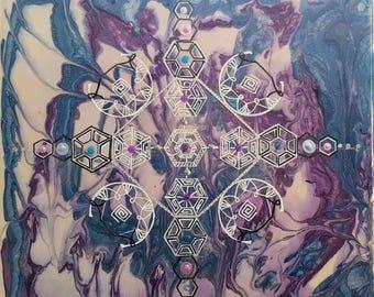 Gothic mixed media canvas