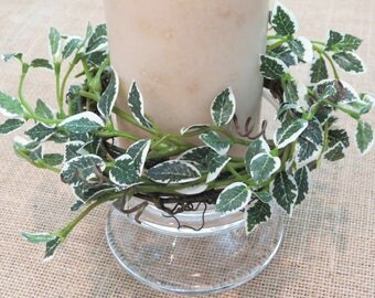 Summer Leafy Candle Ring