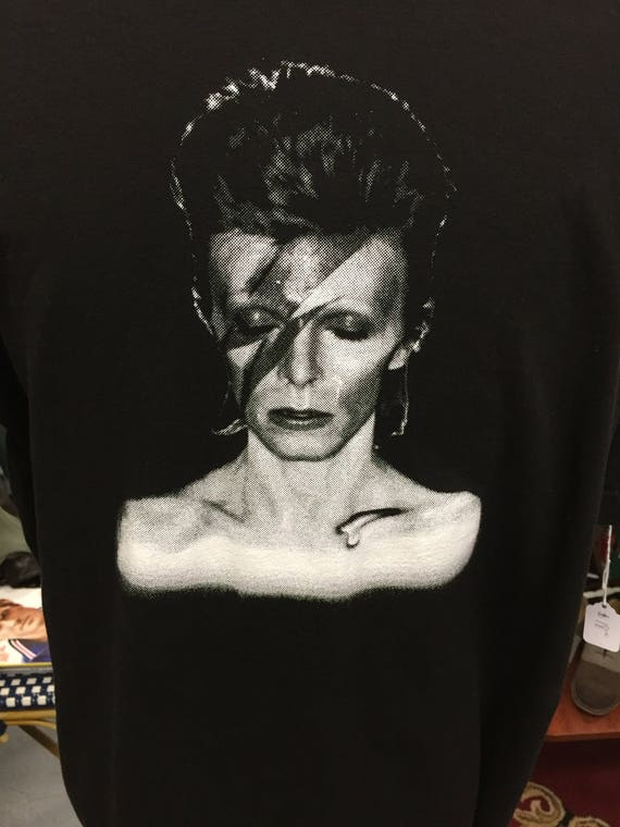 Black David Bowie Aladdin Sane Tee T Shirt