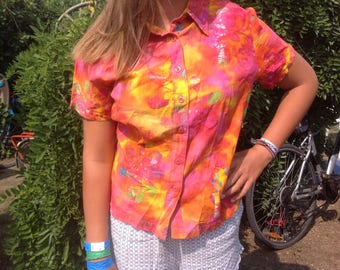 90s tie&die short shirt