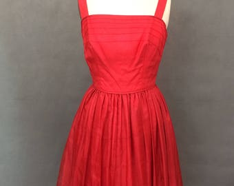 Vintage Red Dress | 1950s Red Party Dress by Vera Mont